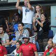Sébastien Cauet - People au match de la finale de l'Euro 2016 Portugal-France au Stade de France à Saint-Denis le 10 juillet 2016. © Cyril Moreau / Bestimage