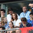 François Fillon, Jamel Debbouze et sa femme Melissa Theuriau - People au match de la finale de l'Euro 2016 Portugal-France au Stade de France à Saint-Denis le 10 juillet 2016. © Cyril Moreau / Bestimage