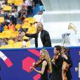 David Guetta et Zara Larsson - People au match de la finale de l'Euro 2016 Portugal-France au Stade de France à Saint-Denis le 10 juillet 2016. © Cyril Moreau / Bestimage