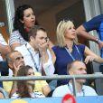 Laurence Ferrari et son mari Renaud Capuçon - People au match de la finale de l'Euro 2016 Portugal-France au Stade de France à Saint-Denis le 10 juillet 2016. © Cyril Moreau / Bestimage