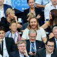 David Guetta et son fils Elvis - People au match de la finale de l'Euro 2016 Portugal-France au Stade de France à Saint-Denis le 10 juillet 2016. © Cyril Moreau / Bestimage