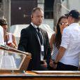 Ana Ivanovic et Bastian Schweinsteiger à Venise le 11 juillet 2016, à la veille de leur mariage, célébré au sein du palace Aman Canal Grande qui avait accueilli en 2014 les noces de George Clooney et Amal Alamuddin.