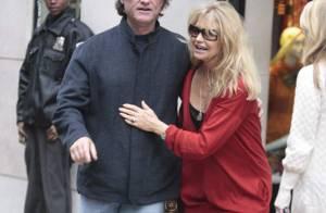 REPORTAGE PHOTOS : Kurt Russell et Goldie Hawn,  toujours très amoureux à New York !