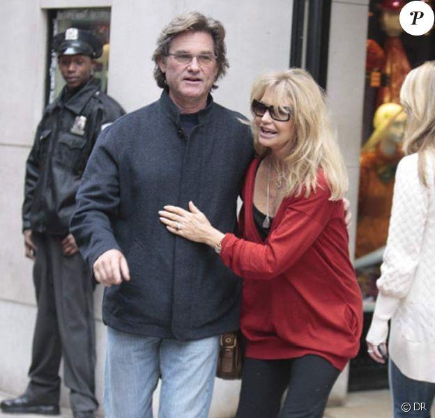 Kurt Russell et sa femme Goldie Hawn