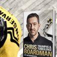 Chris Boardman sur la couverture de son autobiographie