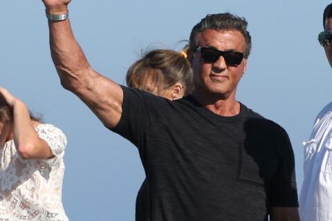 Nice : Sylvester Stallone radieux sous le feu d'artifice, avant le drame...