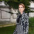 """Céline Dion arrive au défilé de mode Haute-Couture automne-hiver 2016/17 """"Giambattista Valli"""" à Paris, France le 4 juillet 2016."""