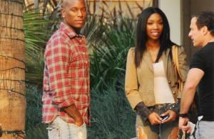 REPORTAGE PHOTOS : On a retrouvé la chanteuse Brandy... et son amoureux, le top Tyrese !
