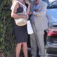 Rupert Murdoch quitte le club 55 après le déjeuner d'anniversaire de sa fille Chloe Murdoch avec sa femme Jerry Hall, son ex-femme Wendi Deng à Saint-Tropez, France, le 17 juillet 2016.