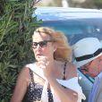 Rupert Murdoch quitte le club 55 après le déjeuner d'anniversaire de sa fille Chloe Murdoch avec sa femme Jerry Hall, son ex-femme Wendi Deng à Saint-Tropez, France, le 17 juillet 2016