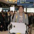Vivian - Retour de Rio de Janeiro des Anges de la Télé réalité Saison 7 à l'aéroport de Charle de Gaulle à Paris, le 14 mars 2015