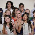 Exclusif - Laeticia Hallyday et ses fille Jade et Joy, Caroline de Maigret au concert de Johnny Hallyday au Vélodrome à Arcachon. Le 19 juillet 2016 © Patrick Bernard-Thibaud Moritz / Bestimage