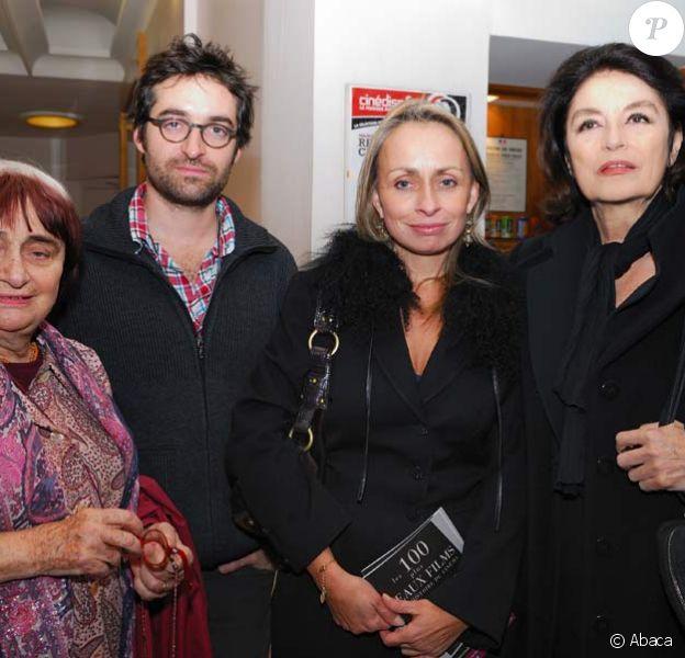 Agnès Varda, Rosalie Varda-Demy, Anouk Aimée et Mathieu Demy