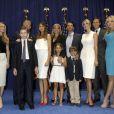 Donald Trump, Donald Trump Jr., Barron Trump, Melania Trump, Ivanka Trump, Tiffany Trump lors d'une conférence à New York, le 16 juin 2015