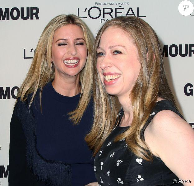 Ivanka Trump et Chelsea Clinton au Glamour Honors à New-York, le 11 octobre 2014