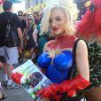 La starlette Courtney Stodden milite pour la PETA au Comic Con 2015 le 10 juillet 2015.