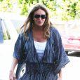 Caitlyn Jenner, née William Bruce Jenner, à la sortie d'un rendez-vous d'affaires à Beverly Hills, le 21 juillet 2016