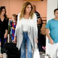 Caitlyn Jenner arrive à l'aéroport d'Heathrow le 28 juillet 2016