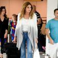 Caitlyn Jenner arrive à l'aéroport d'Heathrow le 28 juillet 2016