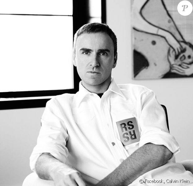 Le créateur belge Raf Simons devient le directeur artistique de Calvin Klein. Photo publiée le 2 août 2016.