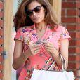 Eva Mendes est allée chez le coiffeur à Los Angeles, le 29 avril 2015