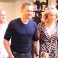 Taylor Swift et son compagnon Tom Hiddleston vont dîner dans un restaurant italien à Sydney le 10 juillet 2016.