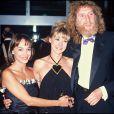 """ARCHIVES - ARIANNE CARLETTI, LA CHANTEUSE DOROTHEE ET CORBIER A LA CEREMONIE DES """"SEPT D' OR"""" 26/09/1988 - Paris"""