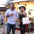 Jenna Jameson se promène avec son petit ami dans le centre commercial de «The Grove» à Los Angeles, le 7 mars 2015