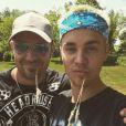 Justin Bieber et son père Jeremy sur Instagram. Juillet 2016