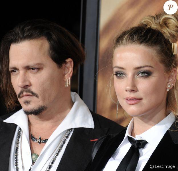 "Johnny Depp et Amber Heard à la première de ""The Danish Girl"" à Los Angeles. © Dave Longendyke/Globe Photos via ZUMA Wire / Bestimage"