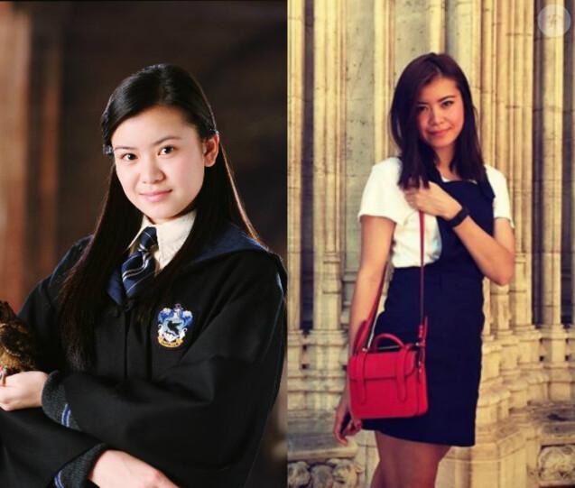 Katie Leung en 2005 dans La Coupe de Feu vs Katie Leung en 2016 sur Instagram