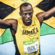 Usain Bolt participe à la finale du 200 mètres hommes au stade olympique à Rio, le 18 août 2016.  Usain Bolt at the men's 200m final held at the Olympic Stadium in Rio. August 18th, 2016.18/08/2016 - Rio de Janeiro