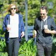 Giovanni Ribisi et sa femme Agyness Deyn se rendent au Starbucks a Santa Barbara, le 17 fevrier 2013.