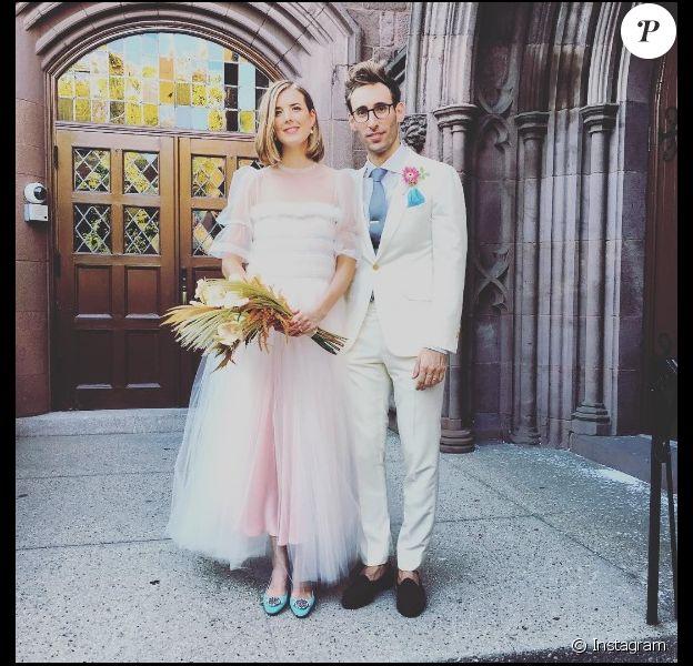 Agyness Deyn et Joel McAndrew le jour de leur mariage à New York le dimanche 28 août 2016