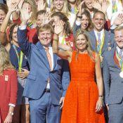 Maxima des Pays-Bas, d'une bonne humeur éclatante pour les médaillés des JO