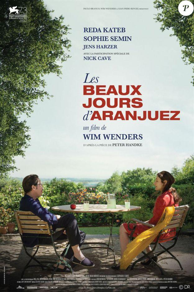 Affiche du film Les Beaux Jours d'Aranjuez, en salles le 2 novembre 2016