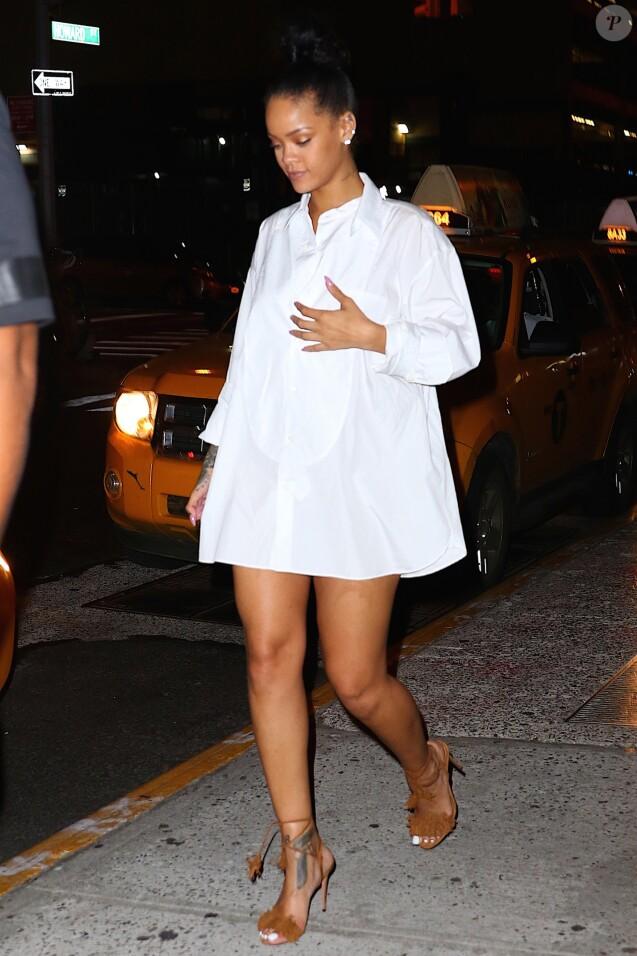 Rihanna et Drake à la sortie du restaurant Nobu à New York le 29 août 2016