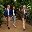 Le prince William, duc de Cambridge, et Kate Middleton, duchesse de Cambridge, en visite au jardin de l'abbaye à Tresco sur les îles Scilly le 2 septembre 2016.