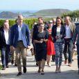 Le prince William, duc de Cambridge, et Kate Middleton, duchesse de Cambridge, en visite à St Martin's dans les îles Scilly le 2 septembre 2016.