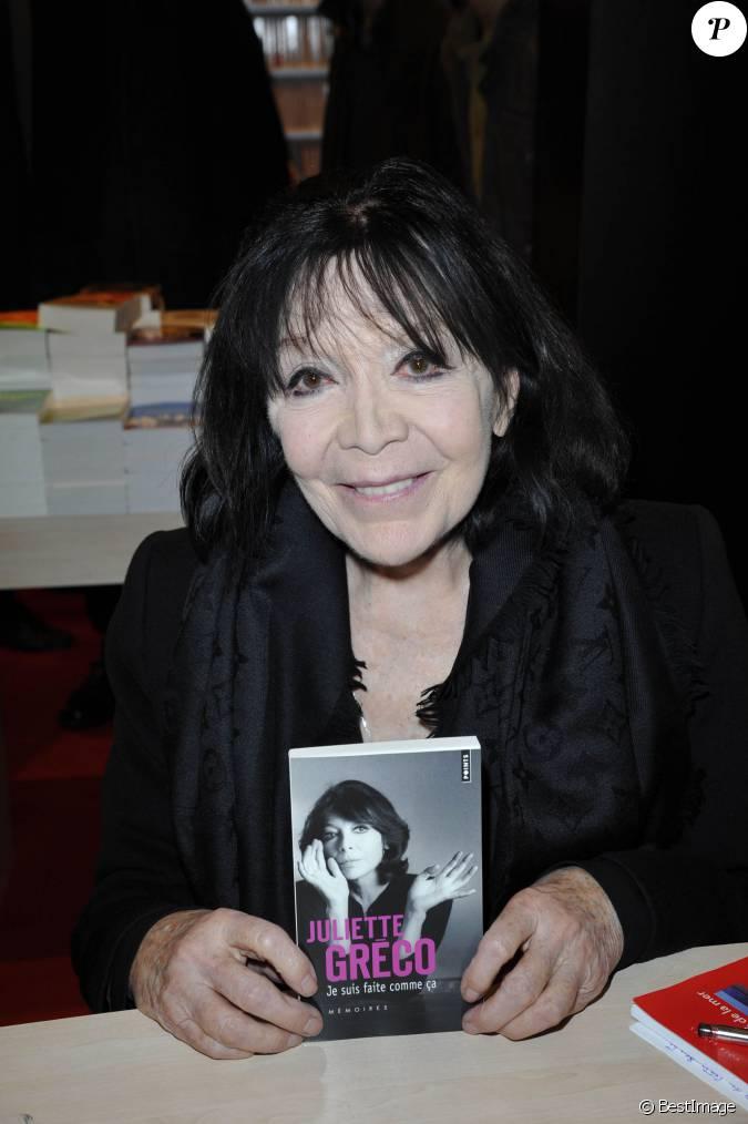 Juliette greco au 33e dition du salon du livre la porte de versailles paris le 24 mars 2013 - Salon du livre porte de versailles 2015 ...