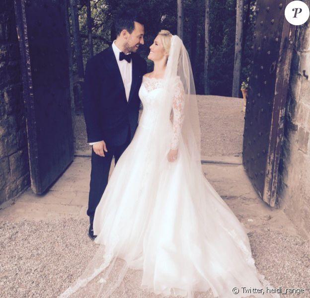 Heidi Range et son mari Alex Partakis se sont mariés le 4 septembre lors d'une romantique cérémonie à Florence, en Italie. Photo publiée sur Twitter, le jour-même