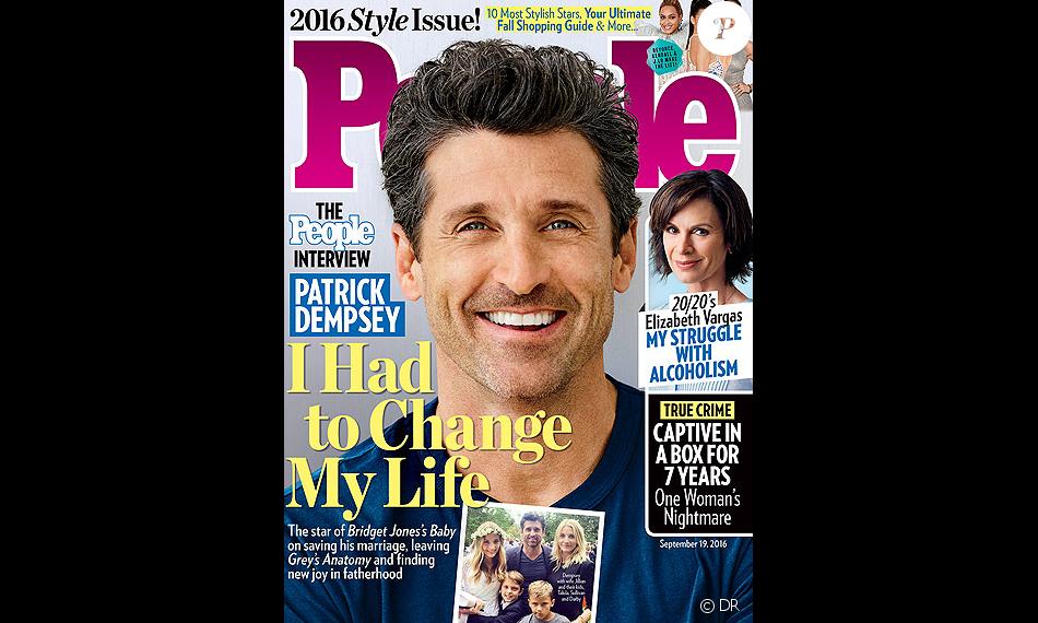 Patrick Dempsey raconte comment il a sauvé son mariage avec Jillian Fink dans le magazine People, en kiosques au mois de septembre 2016