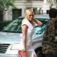 Pamela Anderson et son fils Dylan à l'issue du défilé Christian Siriano à New York. Le 10 septembre 2016.