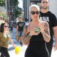 Amber Rose fait du shopping dans les rues de Beverly Hills, le 18 août 2016