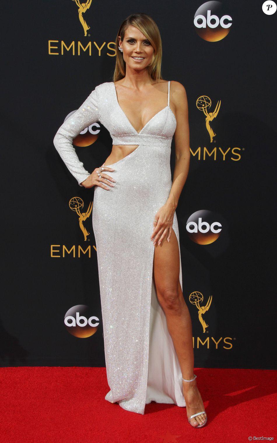 Heidi Klum- 68ème cérémonie des Emmy Awards au Microsoft Theater à Los Angeles, le 18 septembre 2016.