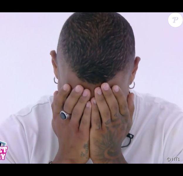 """Marvin en larmes - """"Secret Story 10"""", le 20 septembre 2016 sur NT1."""