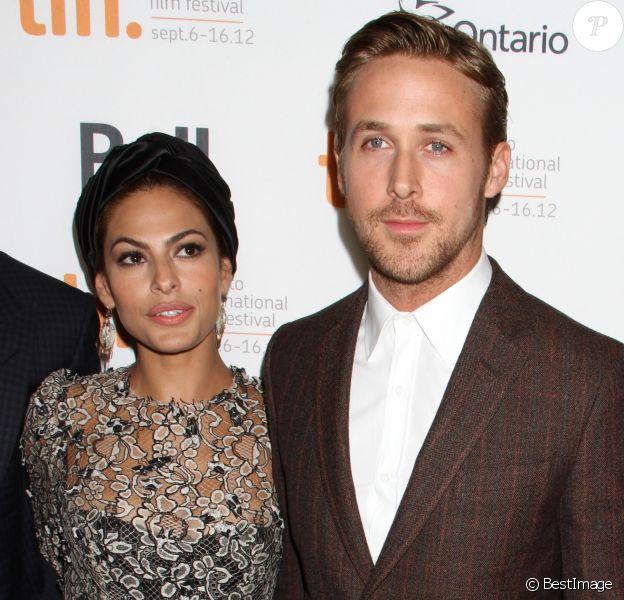 """Eva Mendes, Ryan Gosling - PREMIERE DU FILM """"THE PLACE BEYOND THE PINES"""" A TORONTO, LE 7 SEPTEMBRE 2102."""