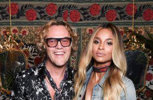 Fashion Week : Ciara, jeune mariée lumineuse chez Roberto Cavalli