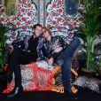 Evangelo Bosis et Peter Dundas -Défilé Roberto Cavalli (collection prêt-à-porter collection printemps/été 2017) à Milan, le 21 septembre 2016.