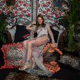 Anna Dello Russo -Défilé Roberto Cavalli (collection prêt-à-porter collection printemps/été 2017) à Milan, le 21 septembre 2016.